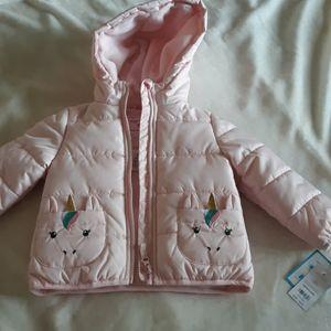 Carter's unicorn puffer jacket
